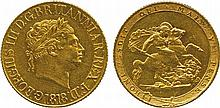 BRITISH COINS, MILLED GOLD SOVEREIGNS, George III,