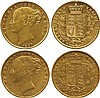 BRITISH COINS, MILLED GOLD SOVEREIGNS, Victoria,