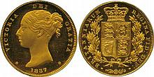 BRITISH COINS, MILLED GOLD SOVEREIGNS, Victoria
