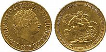 BRITISH COINS, MILLED GOLD SOVEREIGNS, George III