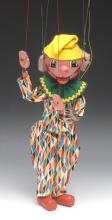 SM Clown - Pelham Puppets SM Range, round wooden head, painted features, gr