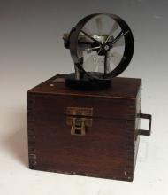 An early 20th century Low Speed Portable Airmeter, the 6cm silvered circula