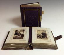 Photography - a Victorian tooled and gilt leather carte de visite album, co