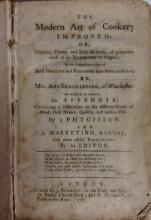 Shackleford (Mrs. Ann), The Modern Art of Cookery Improved; Or, Elegant, Ch