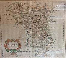 Robert Morden (1650-1703), by, a two-page map, Darbyshire (sic), Sold by Ab