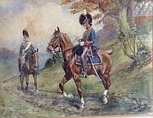 Thomas Ivester LLoyd (1873 - 1942) Royal Horse Artillery 1812 signed and in