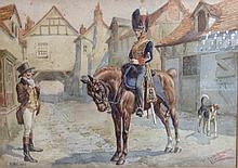 Thomas Ivester LLoyd (1873 - 1942) Royal Horse Artillery 1828 signed and in