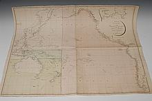 Aaron Arrowsmith (1750-1823), by, a four-fold map, Reduced Chart of the Pac