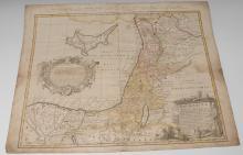 Johann Christian Harenberg (1696-1774), by, a two-page map, Palestine seu T