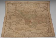 Johann Christoph Harenberg (1696-1774), a two-page map, Imperii Turcicie Eu