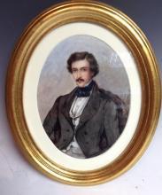 English School (19th century) Portrait of Richard Burdon Esq watercolour, 1