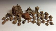 Antiquities - terracotta archaeological finds from Majaphit, Java, includin