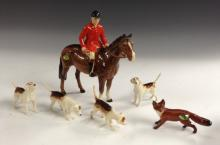 A Beswick huntsman on a bay, designed by Arthur Gredington, 21cm high, mode