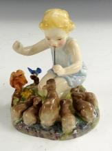 A Royal Worcester figure, Woodland Dance, modelled by F G Doughty, 10.5cm h