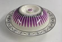 Edward Bawden for Wedgwood -  an Orient Line muffin dish, geometrically dec