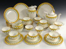 A Royal Doulton Keble pattern tea service, for eleven, the border with styl
