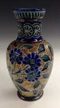 A Doulton Lambeth stoneware baluster vase, decorated by George Hugo Tabor,
