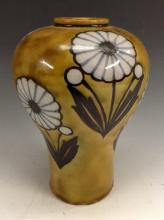 A Royal Doulton stoneware inverted baluster vase, by Florrie Jones, painted