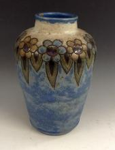 A Royal Doulton stoneware baluster vase, the shoulder scraffito inscised wi