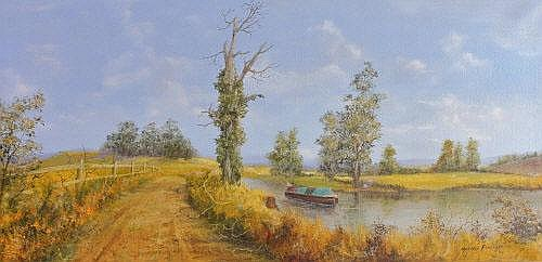 Maxwell Parsons (Contemporary) The Canal Boat