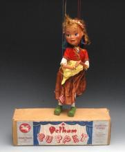 SL Gretel - rare early version, Pelham Puppets SL Range, large moulded head