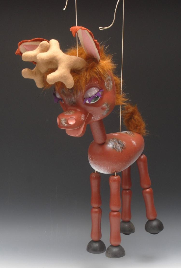 reindeer and dinosaur puppets - photo #21