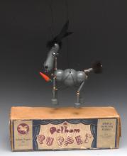 LA Dobifer the Donkey - Pelham Puppets Animal and Bird Range, solid turned