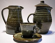 A Leach standard ware coffee set