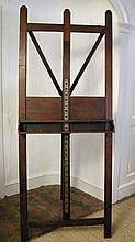A Windsor and Newton mahogany campaign easel