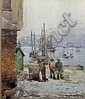 Norman Garstin (1847-1926) On the quay, Penzance,