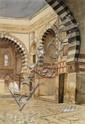Edwin Lord Weeks - 'Courtyard, North Africa (Formerly NearEast Courtyard)'