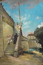 French School - Sur l'escalier de la Seine