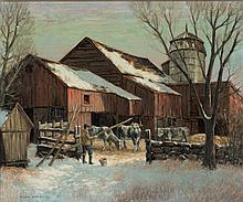 Winfield Scott  Clime - The Farm in Winter