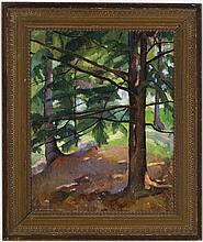 Luigi Lucioni - Trees in a Landscape