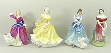 A group of four Royal Doulton figurines comprising Jemma HN3
