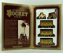 A Hornby Dublo scale model of Stephenson's Rocket, with tend