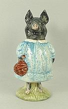 A Beswick Beatrix Potter figure modelled as 'Pig-Wig', brown