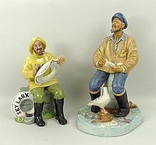A Royal Doulton figure modelled as 'The Seafarer' HN2455 and another modelled as The Boatman HN2417.