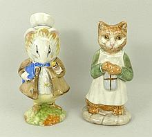 A Beswick Beatrix Potter figure modelled as 'Amiable Guinea-Pig' brown back stamp BP3a, and another modelled as 'Ginger', back stamp BP3b.