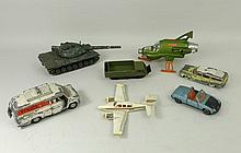 A collection of Dinky including a UFO Interceptor, Leopard T