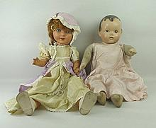 A 1950's FP walking and talking doll in its original clothes