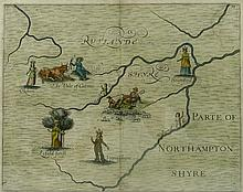 A collection of Rutland County maps, to include Owen Bowen circa 1720, Thos Kitchin, circa 1786, Thos Moule circa 1830, Robert Morden,1695, and William Hole 1622?, all hand coloured .(5)