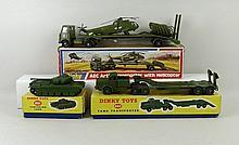 A Dinky Toys Tank Transporter, no 660, boxed, Centurian Tank