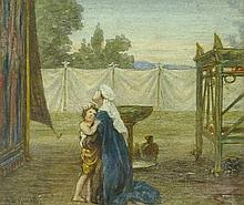 Arthur Boyd Houghton (1836-1875): a woman in medieval style