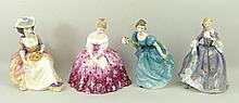 A group of four Royal Doulton figurines comprising Rhapsody