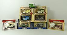 A group of Lledo Days Gone By vintage model vehicles, in ori