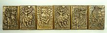A group of six Anders Nyborg bronze plaques, limited edition