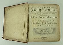 The Holy Bible, containing the Old and New Testaments, and also the apocrypha, 4to, calf, engraved plates, published by Pearson and Rollason, Birmingham 1788.