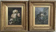 Alexandre Debrus (1843-1905): a pair of oils on