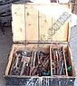 A box of assorted working tools etc